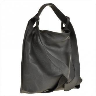 Torebko plecak damski duży w kolorze szarym xl