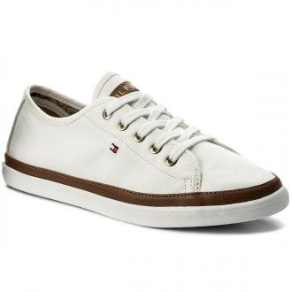 Tenisówki TOMMY HILFIGER - Iconic Kesha Sneaker FW0FW02823 Whisper White 121
