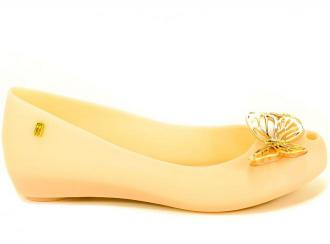 Baleriny Letnie Melissa 32773 52779 Pink/Gold Róż