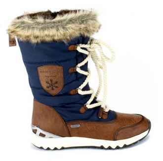 Śniegowce Marco Tozzi 2-26824-23 890 Navy Comb Granatowy