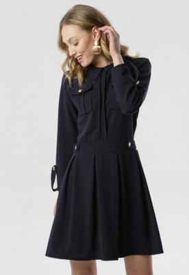 Granatowa Sukienka Restrict