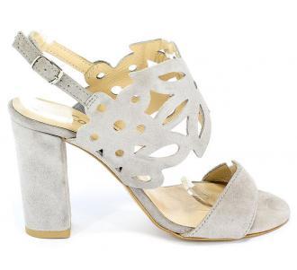 Sandały Cortesini 02100/3 Szary/Zamsz