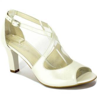 Sandały Kotyl 4325 Biały Perła Skóra