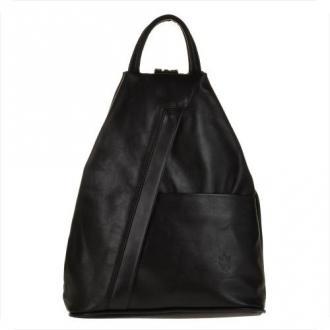 Zgrabny plecak skórzany czarny lekki