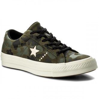 Tenisówki CONVERSE - One Star Ox 159703C Herbal/Light Gold/Egret