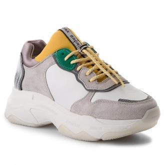 Sneakersy BRONX - 66167-A BX 1525 White/Yellow/Silver 2299