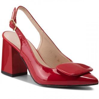Sandały SAGAN - 3192 Czerwony Lakier