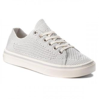 Tenisówki TOMMY HILFIGER - Knitted Light Weight Lace Up FW0FW03362 White 100
