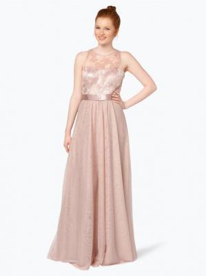 VM - Damska sukienka wieczorowa, beżowy