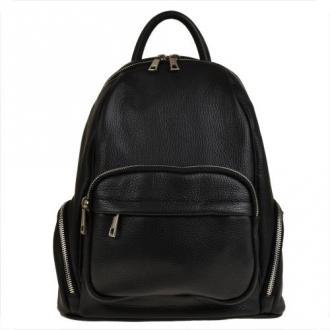 Plecak skórzany czarny rozmiar l