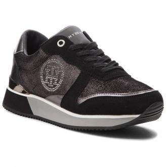 Sneakersy TOMMY HILFIGER - Stud City Snea FW0FW03229 Black 990