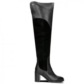 TOMMY HILFIGER MATERIAL MIX HEELED BOOT