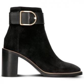 TOMMY HILFIGER OVERSIZED BUCKLE HEELED BOOT