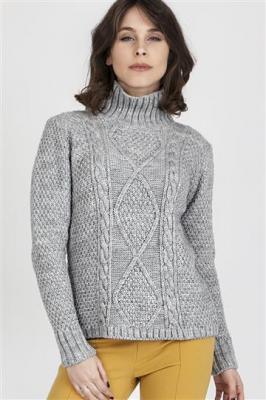Sweter Estelle SWE 121 Szary