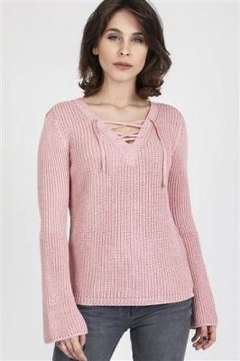 Sweter Kylie SWE 117 Pudrowy róż