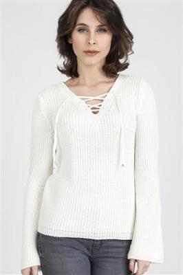 Sweter Kylie SWE 117 Ecru
