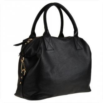 Bardzo duża torebka skórzana czarna shopper bag- xxl