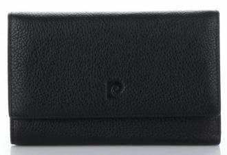 Pierre Cardin Firmowy Skórzany Portfel Damski Czarny (kolory)