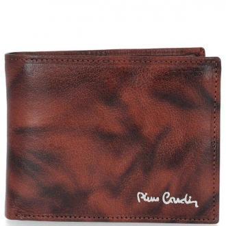 Klasyczny Skórzany Portfel Męski firmy Pierre Cardin Brązowy (kolory)