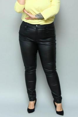 Spodnie woskowane jeans ELŻBIETA rurki czarne