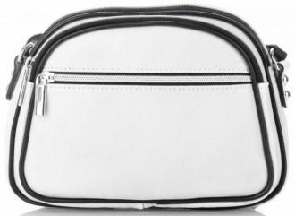 Torebki Skórzane Listonoszki marki Genuine Leather Białe (kolory)