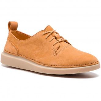 Półbuty CLARKS - Hale Lace. 261388774 Light Tan Nubuk