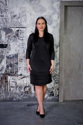 Czarna Sukienka CLAUDIA Plus Size
