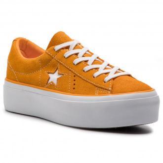 Tenisówki CONVERSE - One Star Platform Ox 563487C Field Orange/White/White