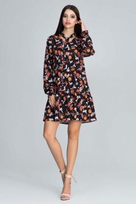 Dziewczęca Sukienka z Wzorem z Falbaną na Dole - Wzór 82