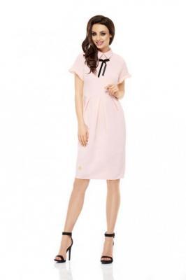 Różowa Sukienka Koktajlowa o Ołówkowym Kroju