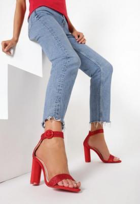 Czerwone Sandały Upscale