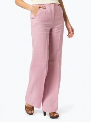 Weekend Max Mara - Spodnie damskie z lnu, różowy