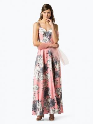 Unique - Damska sukienka wieczorowa z etolą, różowy