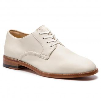 Oxfordy CLARKS - Ellis Scarlett 261418854 White Leather