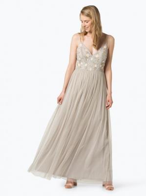 Marie Lund - Damska sukienka wieczorowa, szary