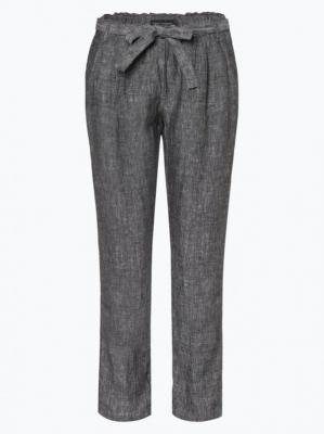 Franco Callegari - Damskie spodnie lniane, czarny