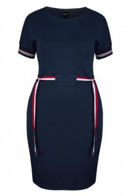 TIFFANY NAVY sportowa sukienka plus size : Rozmiar - 60/62
