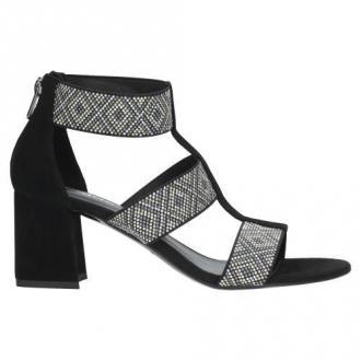 Wojas Stylowe Czarne Sandały