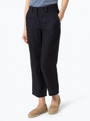 Marc O'Polo - Damskie spodnie lniane, niebieski