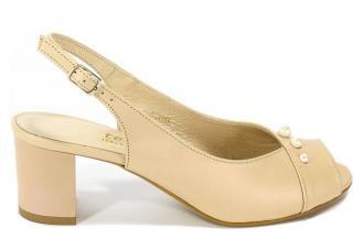 Sandały Cortesini 02055 Skóra Puder/Perła
