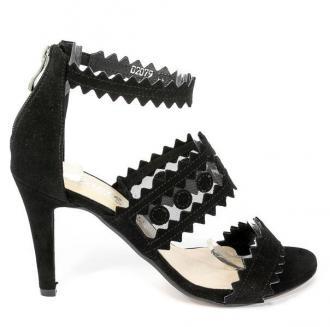 Sandały Cortesini 02079 Czarny/Zamsz