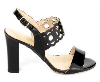 Sandały Gamis 3391 Czarny Lakier