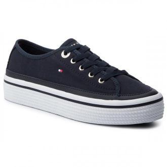 Tenisówki TOMMY HILFIGER - Corporate Flatform Sneaker FW0FW04259  Midnight 403