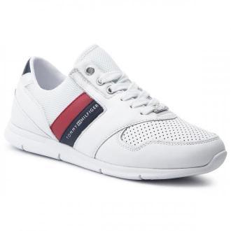 Sneakersy TOMMY HILFIGER - Lightweight Leather Sneaker FW0FW04261  Rwb 020