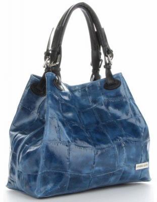 Torebki Skórzane ShopperBag firmy VITTORIA GOTTI Jeansowe (kolory)