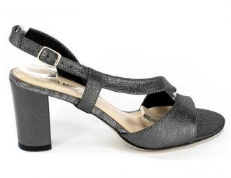 Sandały Lucca 3086 Szaro Srebrny
