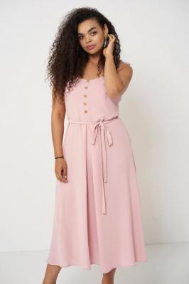 VIVIEN PINK letnia sukienka plus size : Rozmiar - 60/62