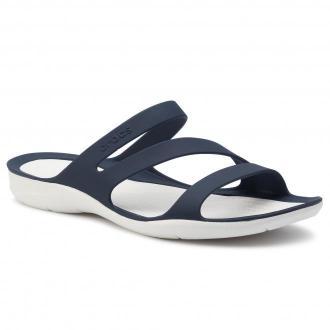 Klapki CROCS - Swiftwater Sandal W 203998 Navy/White