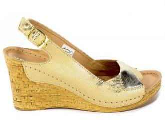 Sandały Verano 1838 Złota Rosa Złote Lico