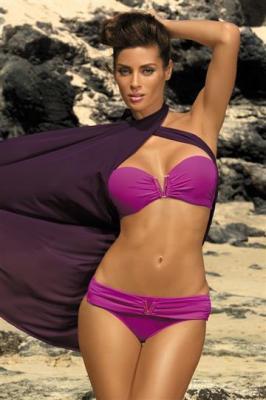 Kostium kąpielowy Shanon Burlesque M-323 różowy (36)